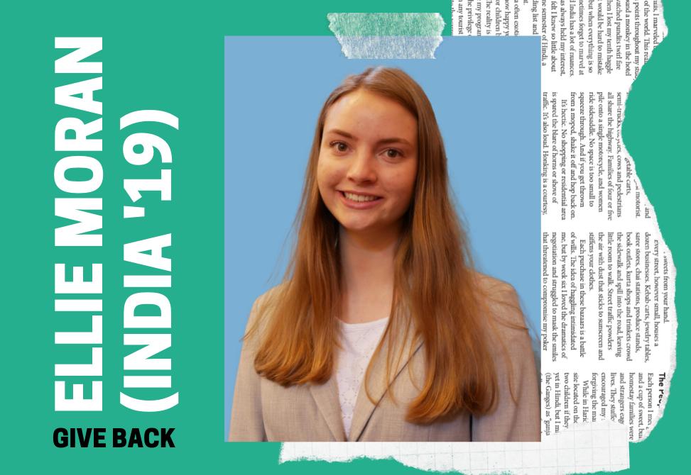 Spotlight on Give Backs: Ellie Moran